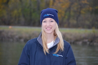 navy knit rowing hat