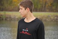 black men's rowing shirt